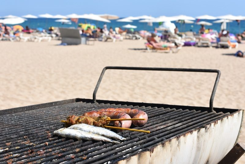 Nothing better than a barbecue on the beach.