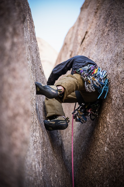 Trad climbers spend a lot of time wedged into cracks, slots, and chimneys.