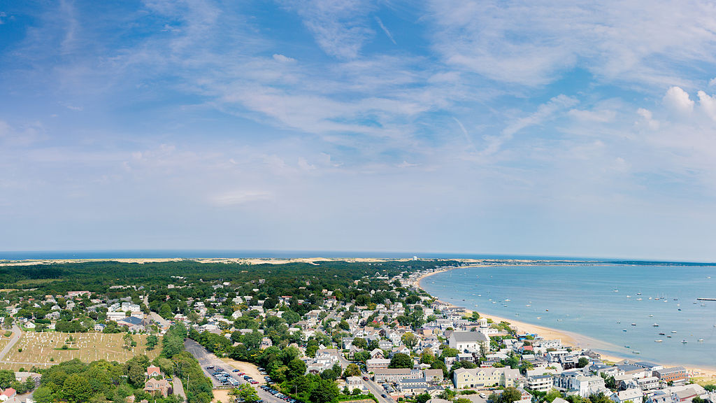 Aerial view of Provincetown, Cape Cod - Author: WestportWiki - CC BY-SA 3.0