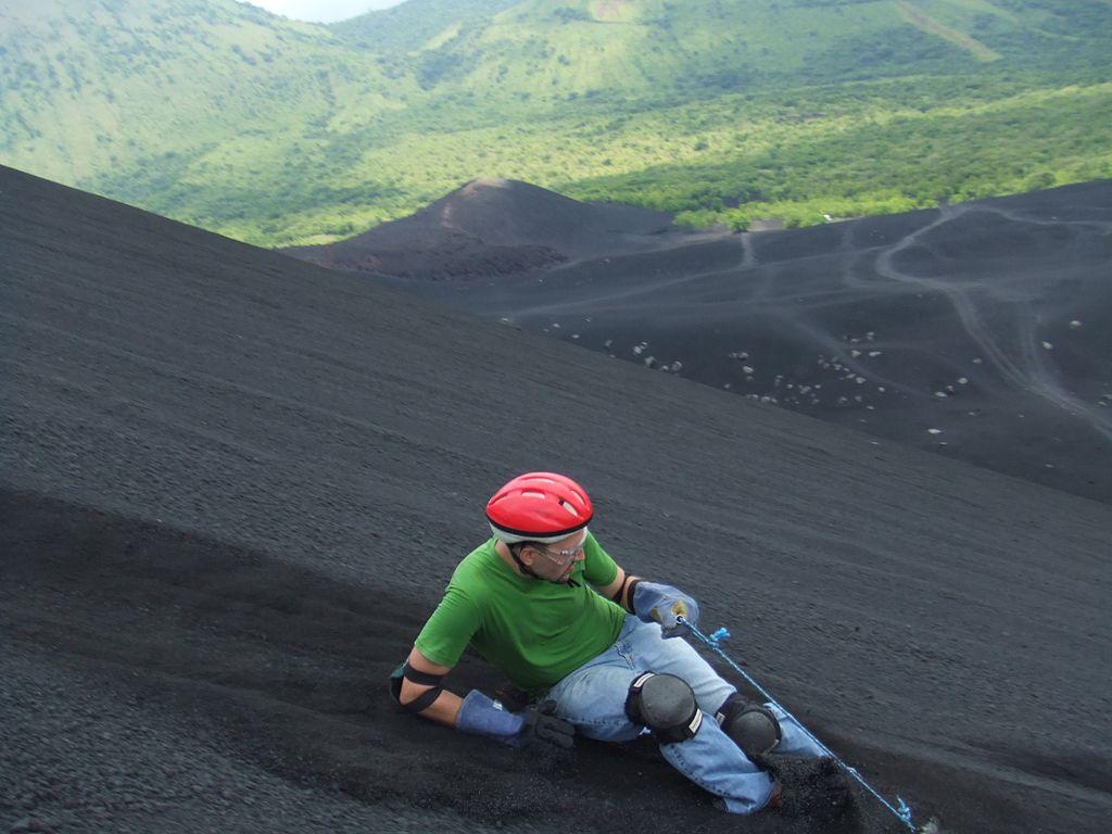 A boarder sliding down Cerro Negro, Nicaragua - Author: NicaPlease - CC0