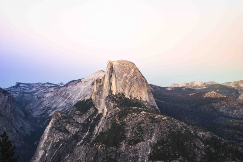 The amazing Half Dome in Yosemite National Park
