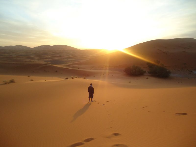 Watch the sunset in Marocco.