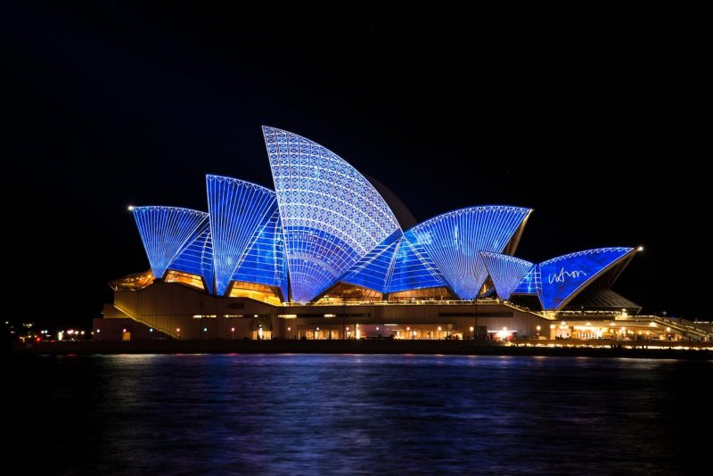 The amazing Opera House in Sydney