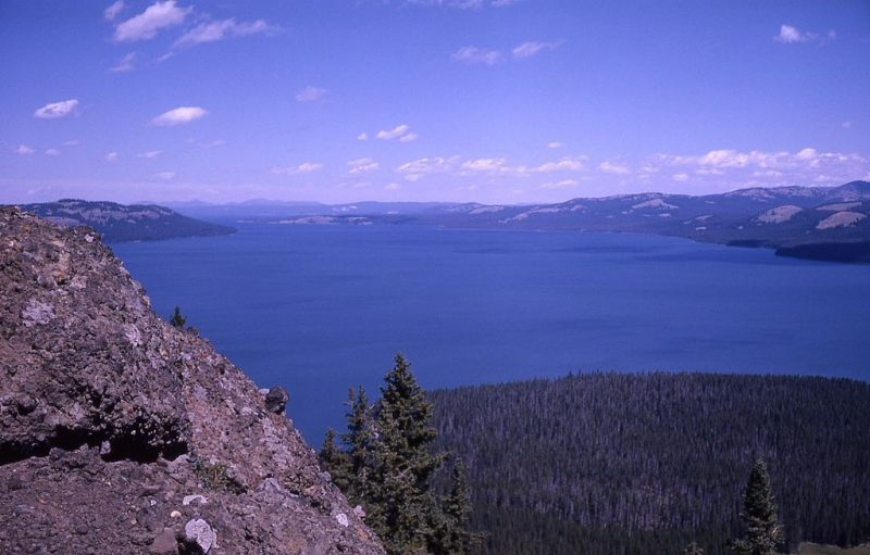 Yellowstone Lake from Two Ocean Plateau, Yellowstone National Park, Wyoming, 1963