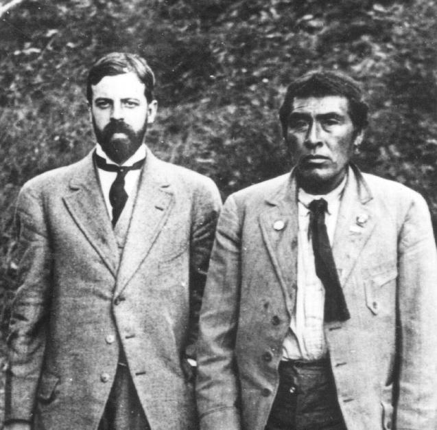 Ishi, the last known member of the Yahi tribe, with anthropologist Alfred L. Kroeber