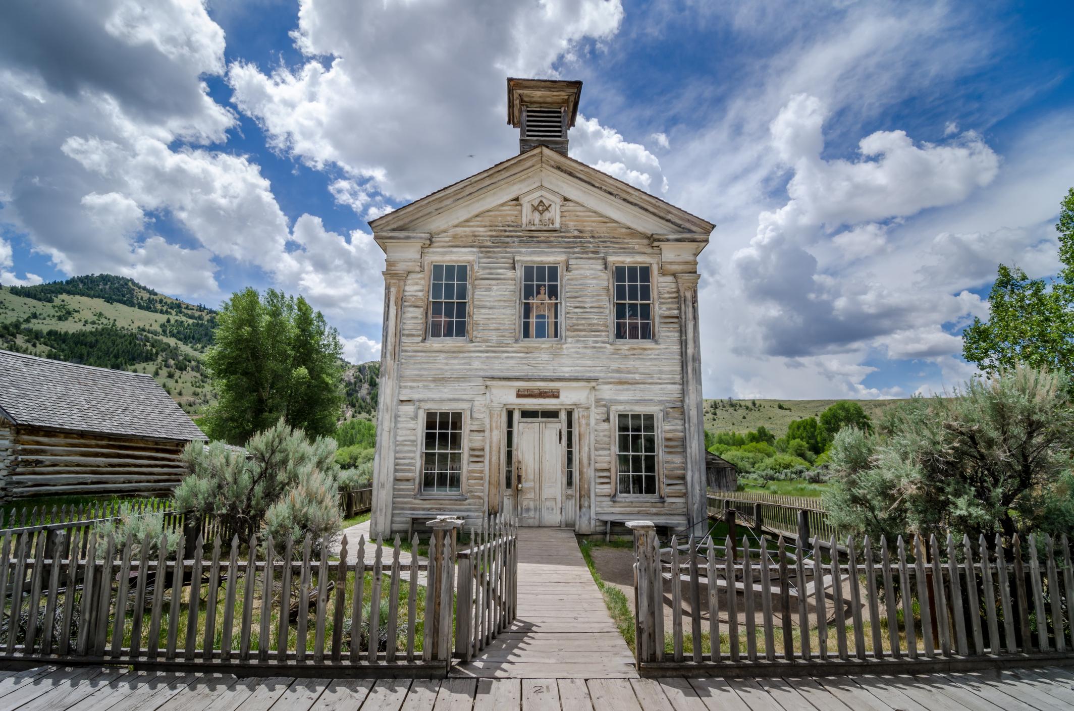 Abandoned school building in Bannack