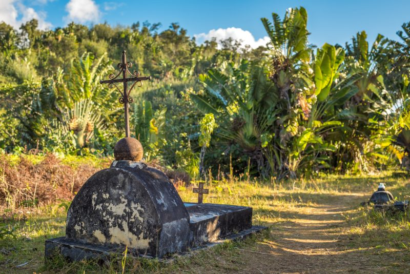 The cemetery of past pirates at St. Mary Island, Madagascar houses many of these daring men of the high seas.