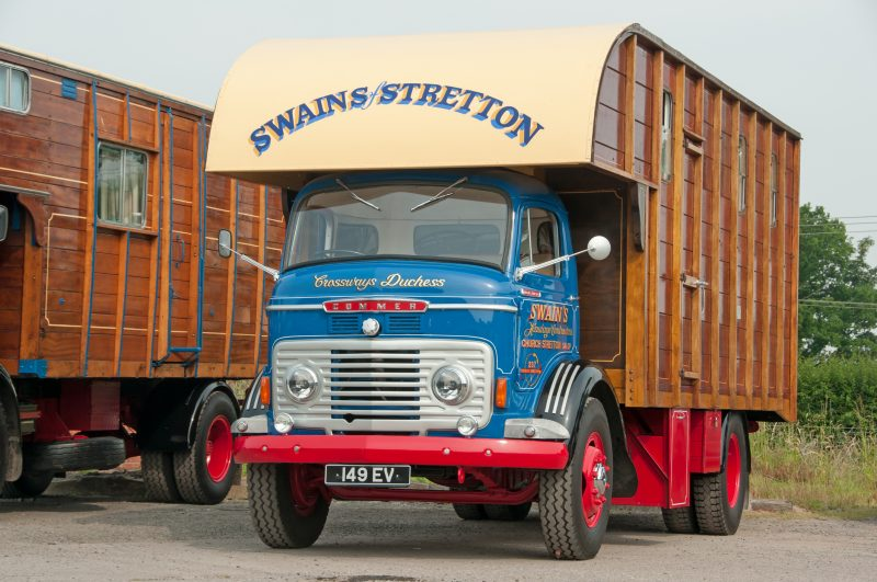 This beautifully restored vintage Commer truck with a wooden body is quite a different style of mobile home.