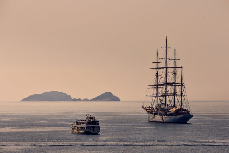 Modern recreations of the kinds of fully rigged sailing ships which pirates would have used are popular.