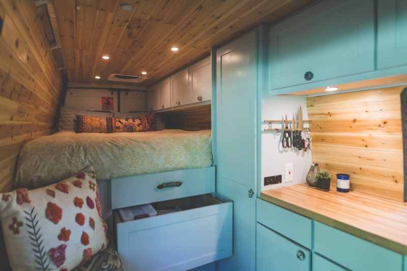 The comfort and style of a tiny rolling home