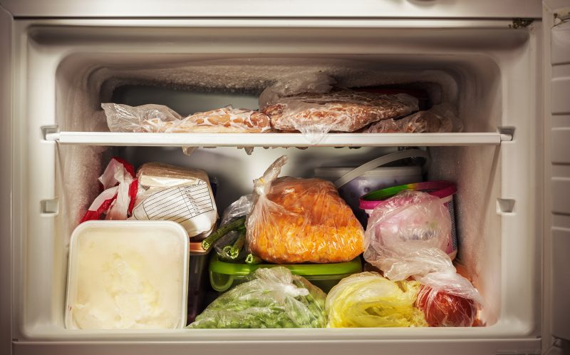 The average family in the United States has enough food in the pantry and the refrigerator to last them about a week.