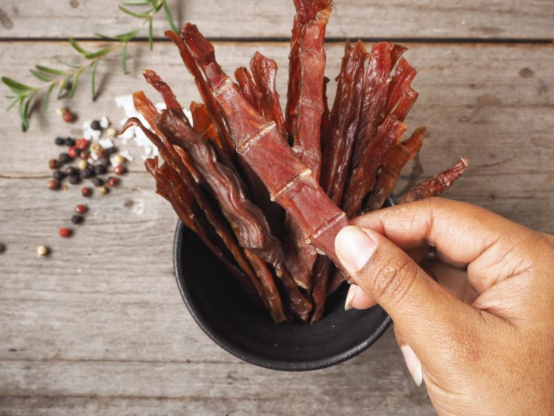 Beef jerky is one of the easiest survival foods to make and keep.