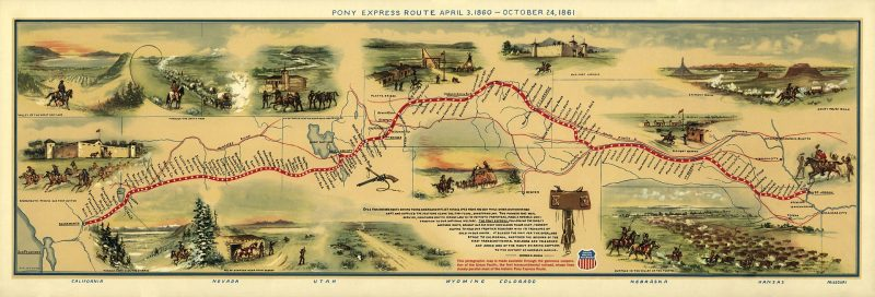 The Pony Express map
