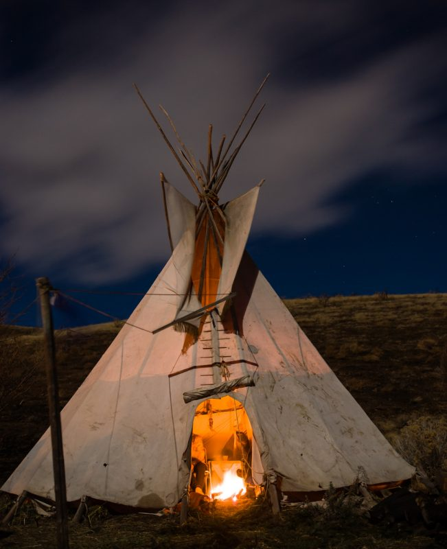 Traditional North American Teepee.