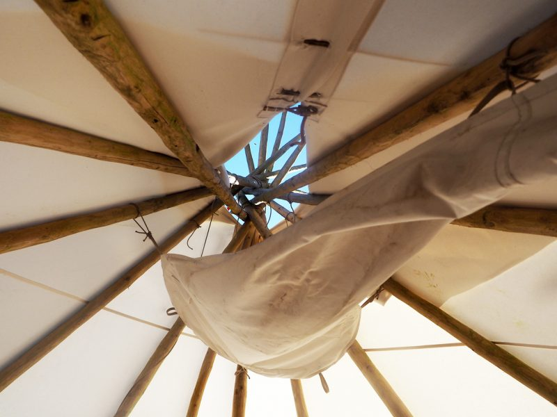 A teepee from inside