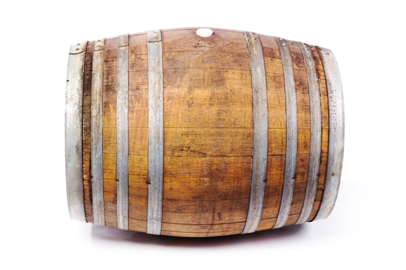 A wooden barrel