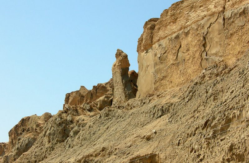 "A specific salt pillar near Mount Sodom has been named ""Lot's Wife"""