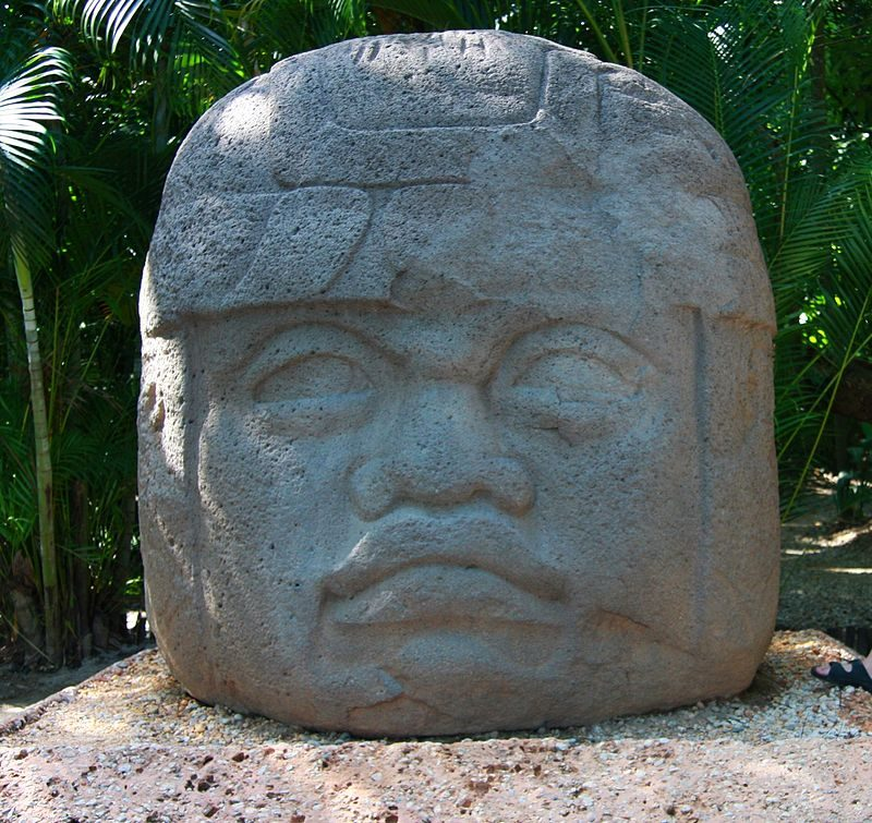 On our side of the Atlantic, the Olmeca (sometimes spelled Olmec) people of Mesoamerica came to being in about 1400 BC – Author: Glysiak – CC BY-SA 4.0