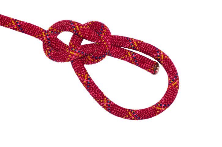 Bowline knot red rope