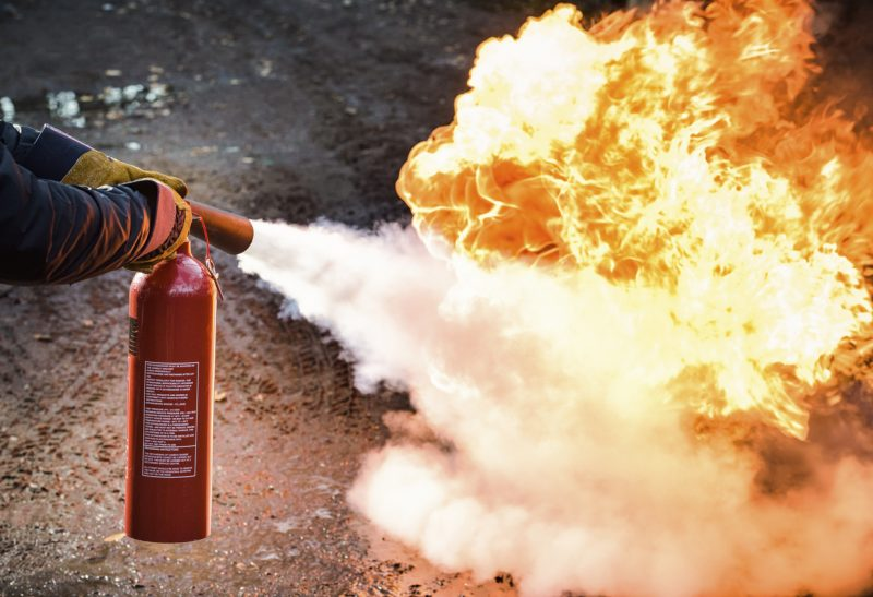 A simple fire extinguisher or two in your possession could be all that you need!