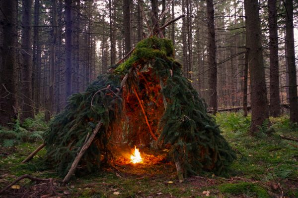 Shelters such as this wickiup are surprisingly simple to build.