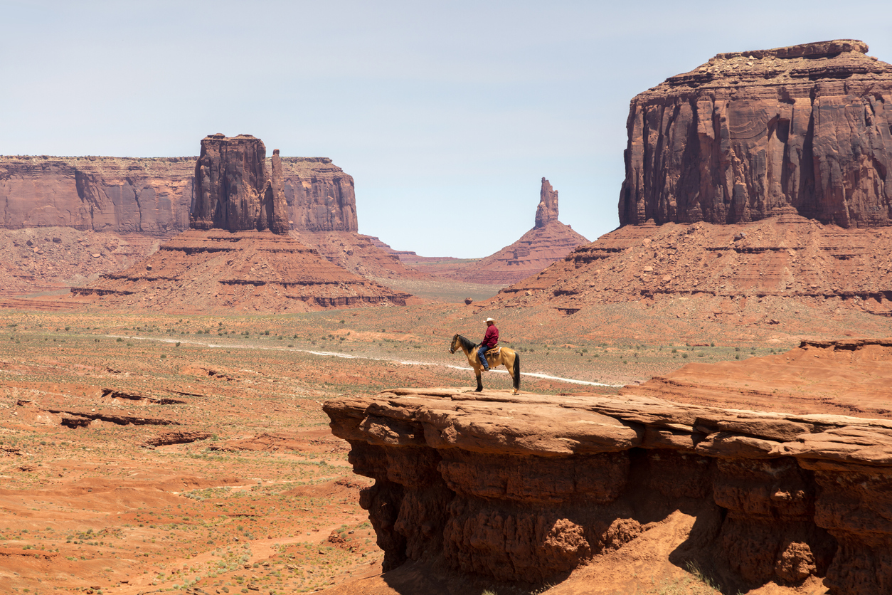 John Ford's Point in Monument Valley, Arizona, USA.