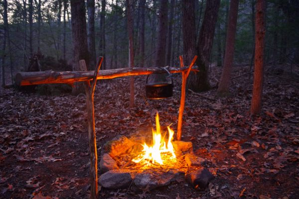 Few things are as peaceful as cooking a meal in the woods.