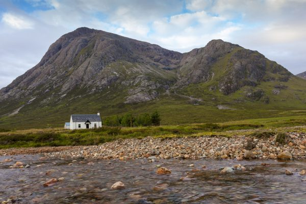 An example of a 'bothie' in the Scottish Highlands. Many of these are simple cottages, which provide more protection than a tent or bivi.