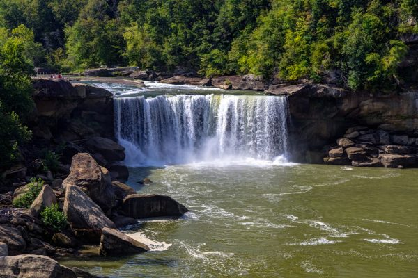 The majestic Cumberland Falls in Kentucky.