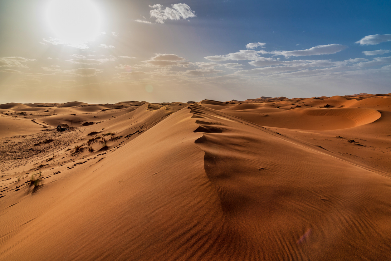 Dunes in the Sahara Desert - Morocco