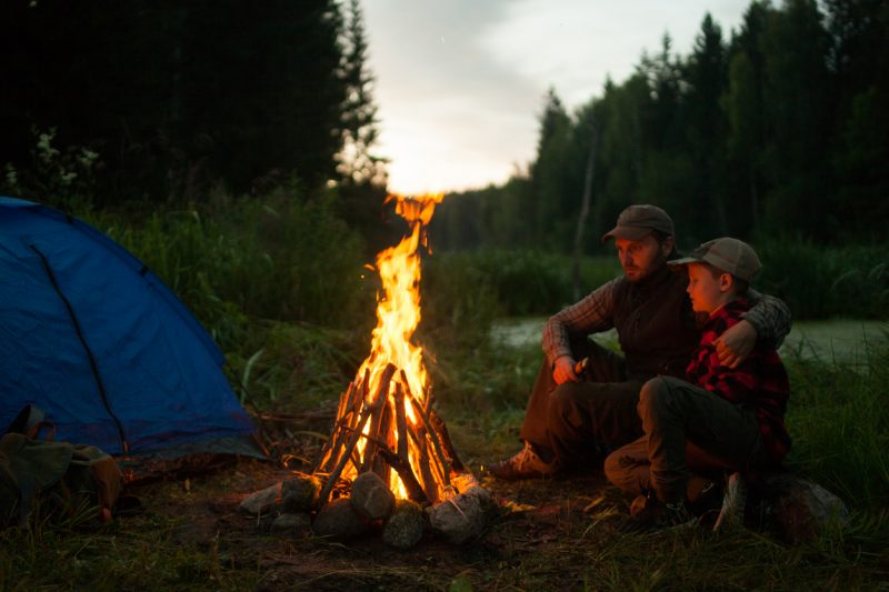 Children learn very quickly how to light and build fires
