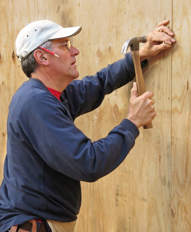 Plywood boards can be effective for home defense