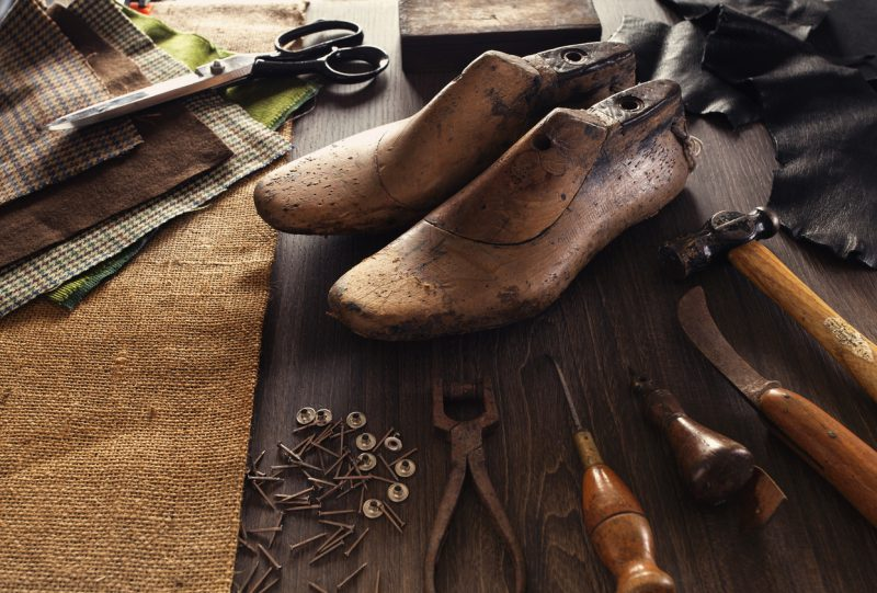 Before the industrial revolution hit, shoes were made by hand by the local cobbler