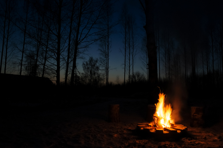 To stay warm you'll need a proper, bigger fire, which will require more fuel and more effort to create