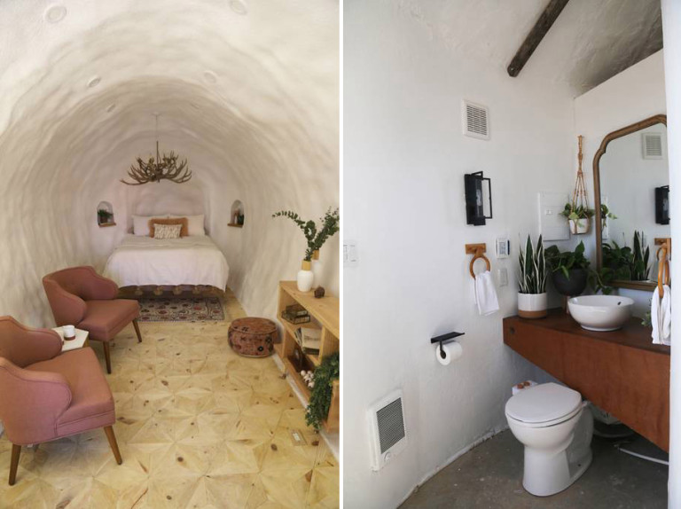 Just because you're staying in a potato does not mean you will not have some of your favorite modern luxuries – Photo Credit: Airbnb