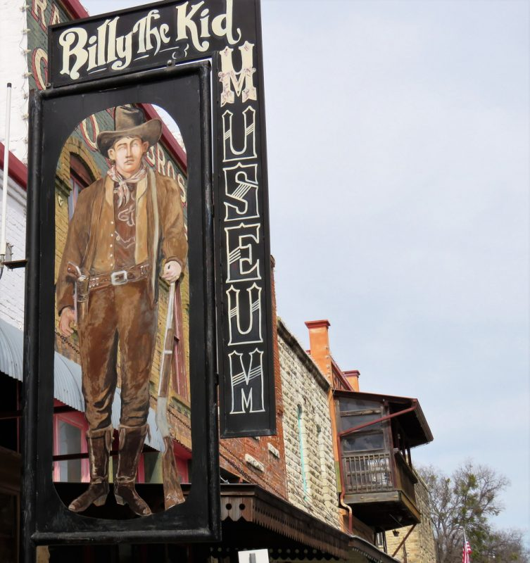 """Hico, Texas, USA, — February 15, 2019: A Billy the Kid museum presents its case that the Wild West outlaw spent his latter years in Hico, after allegedly being mortally shot in New Mexico, as Ollie L. """"Brushy Bill"""" Roberts."""