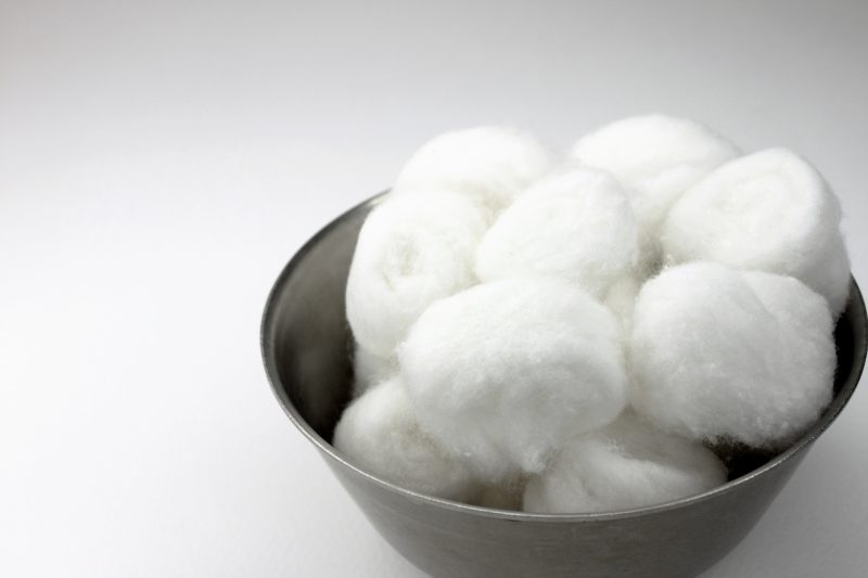 When in a fix, you can easily make use of cotton balls in filtering water.