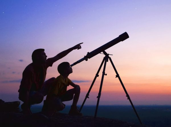 Practice star gazing without a telescope first.