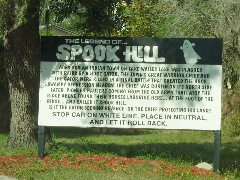 Spook Hill, Lake Wales, Florida – Author: Averette – CC BY 3.0