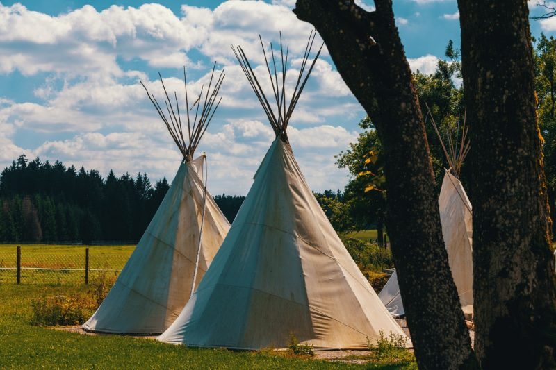Teepees required many buffalo skins to build, acting as the covering for the tent, as well as buffalo robes for beds and coverings inside