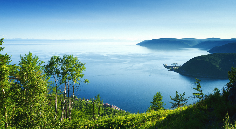 A panoramic view of Lake Baikal