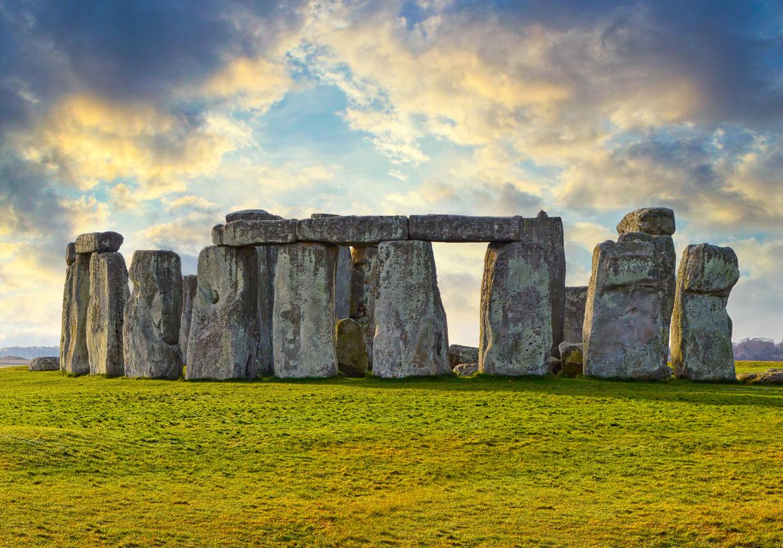 Majestic Stonehenge prehistoric monument in Wiltshire, England.