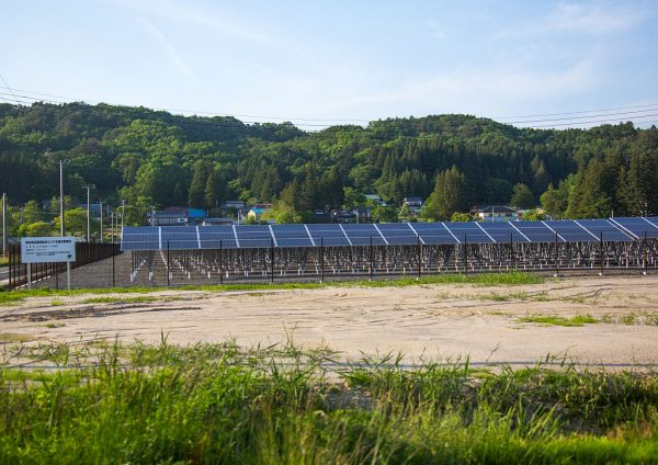 IITATE, JAPAN – MAY 23: Solar panels in the highly contaminated area after the daiichi nuclear power plant irradiation, fukushima prefecture, iitate, Japan on May 23, 2016 in Iitate, Japan. (Photo by Eric Lafforgue/Art in All of Us/Corbis via Getty Images)