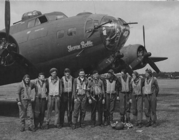 Crew members of B-17 Sharon Belle, sadly all lost. Credit: www.americanairmuseum.com