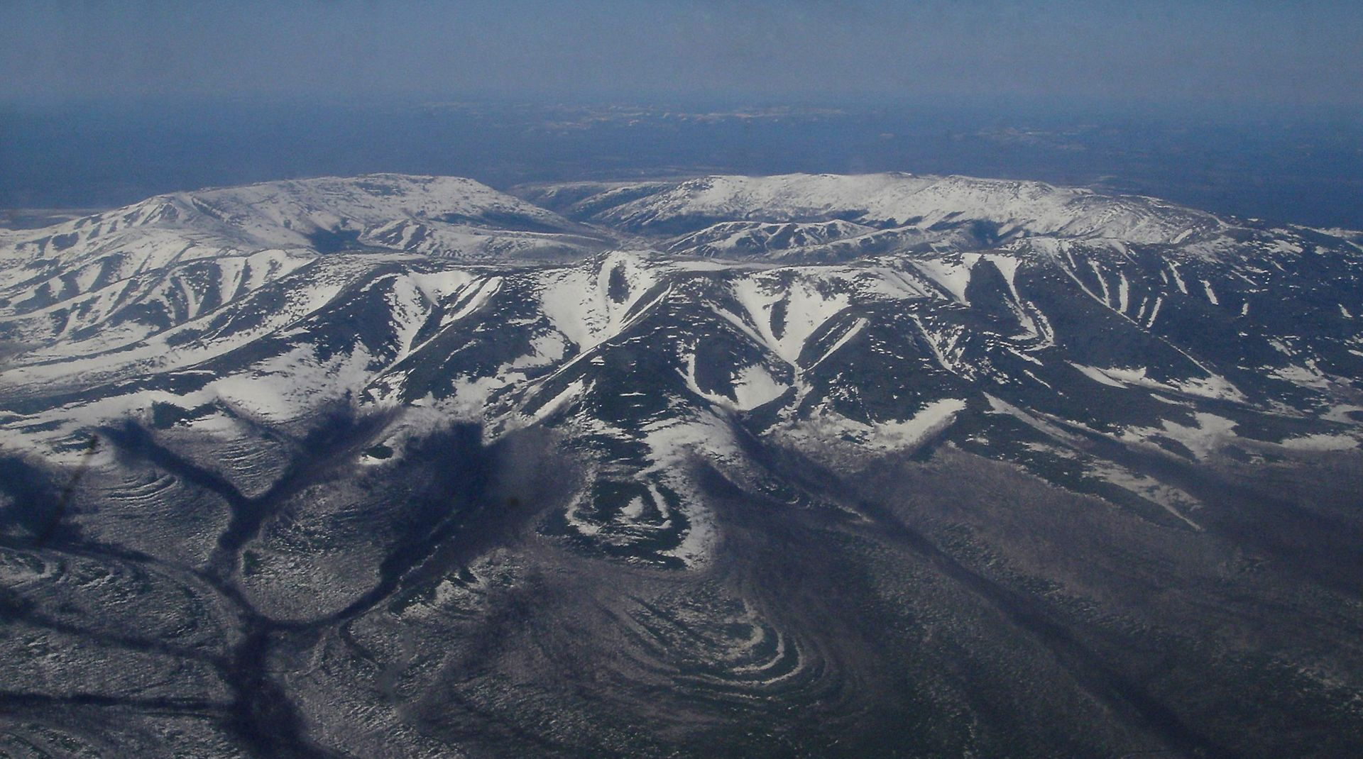 Kondyor Massif viewed from a helicopter