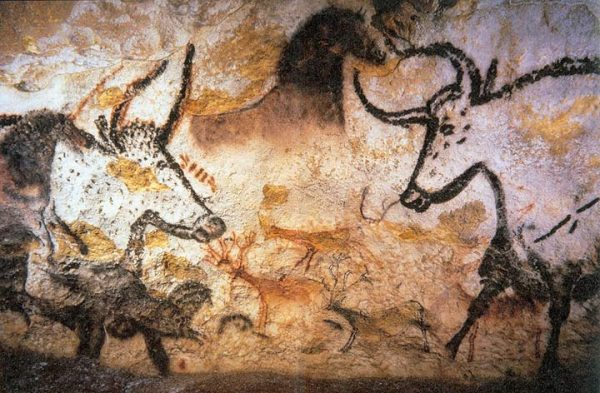 Aurochs in a cave painting in Lascaux, France.