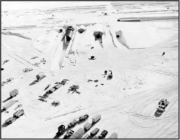 Camp Century, a US military base built within the Greenland Ice Sheet in 1959, doubled as a top-secret site for testing the feasibility of deploying nuclear missiles from the Arctic during the Cold War.