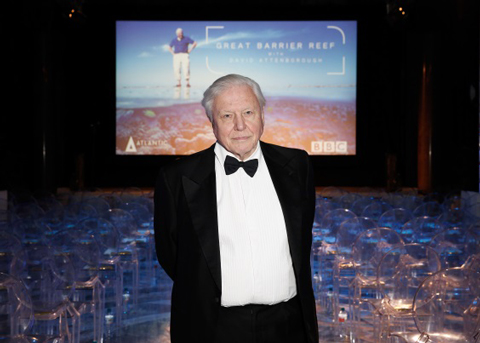 Attenborough at a special screening of Great Barrier Reef in 2015, www.dfat.gov.au – CC BY 3.0 au