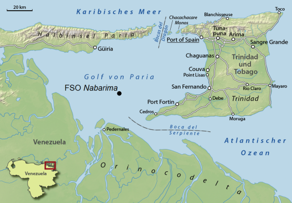 Location of FSO Nabarima. NordNordWest – CC BY-SA 3.0