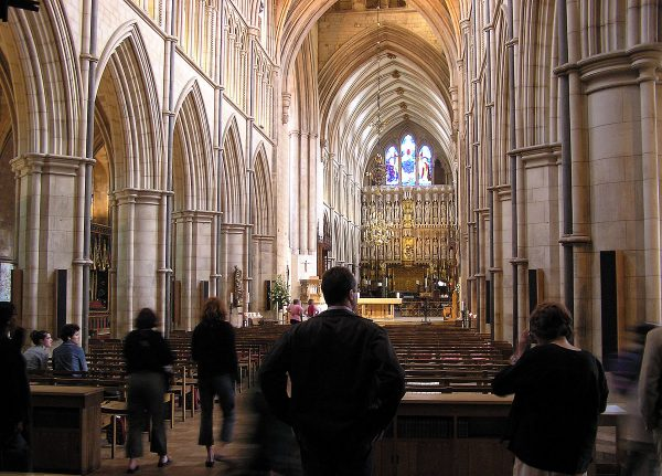The nave of Southwark Cathedral